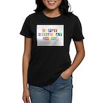 Happy Birthday Mommy.psd Women's Dark T-Shirt