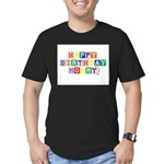 Happy Birthday Mommy.psd Men's Fitted T-Shirt (dar