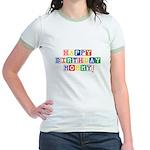 Happy Birthday Mommy.psd Jr. Ringer T-Shirt