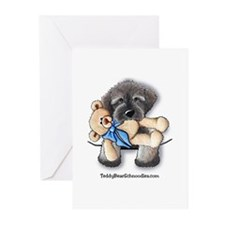 Pocket Wookie Schnoodle w/Bear Greeting Cards (Pac