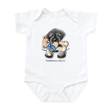 Pocket Wookie Schnoodle w/Bear Infant Creeper