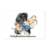 Pocket Blk Schnoodle w/Bear Postcards (Package of