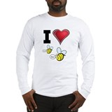 I Love Boo Bees Long Sleeve T-Shirt