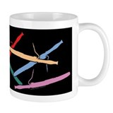 Colorful Bassoons Black Small Mugs
