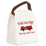 firebiggertruck.JPG Canvas Lunch Bag