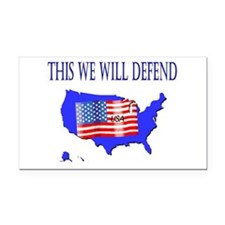 thiswewilldefend.JPG Rectangle Car Magnet