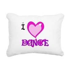 I Love dance.png Rectangular Canvas Pillow