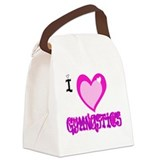 I Love GYMNASTICS.png Canvas Lunch Bag
