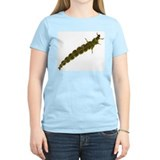Green Rockworm Caddis Larva Women's Pink T-Shirt