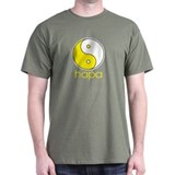 Hapa Yin-Yang (Large Logo) Black T-Shirt