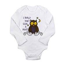 Dont Give A Hoot Long Sleeve Infant Bodysuit