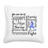 Stomach Cancer Words Square Canvas Pillow