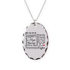 Retinoblastoma Cancer Words Necklace