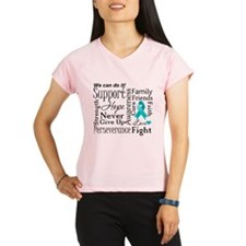 Ovarian Cancer Words Performance Dry T-Shirt