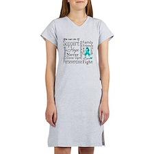 Ovarian Cancer Words Women's Nightshirt