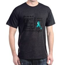 Ovarian Cancer Words T-Shirt
