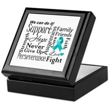 Ovarian Cancer Words Keepsake Box