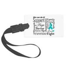 Ovarian Cancer Words Luggage Tag