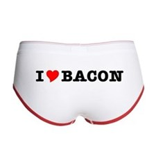 Bacon I Love Heart Women's Boy Brief