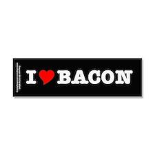 Bacon I Love Heart Car Magnet 10 x 3