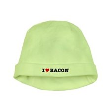 Bacon I Love Heart baby hat