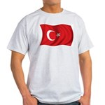 Wavy Turkey Flag Ash Grey T-Shirt