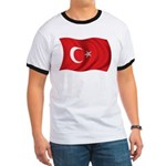 Wavy Turkey Flag Ringer T
