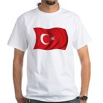 Wavy Turkey Flag White T-Shirt