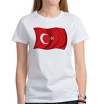 Wavy Turkey Flag Women's T-Shirt