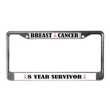 Breast Cancer 8 Year Survivor License Frame