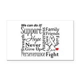 Lung Cancer Words Rectangle Car Magnet