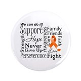 "Kidney Cancer Words 3.5"" Button"