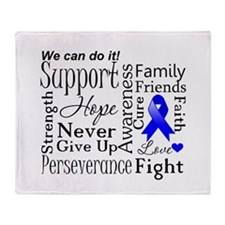 Colon Cancer Words Throw Blanket