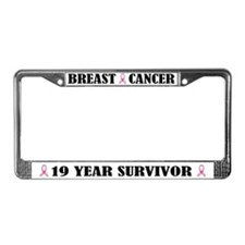 Breast Cancer 19 Year Survivor License Frame