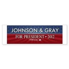 FREE - Gary Johnson 2012 Bumper Bumper Bumper Sticker