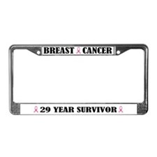 Breast Cancer 29 Year Survivor License Frame