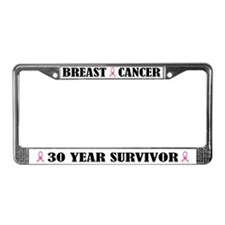 Breast Cancer 30 Year Survivor License Frame