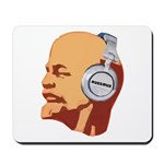 Lenin wearing heaphones Mousepad