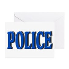"""Occupations Police White"" Greeting Cards (Package"