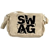 distressed SWAG Messenger Bag