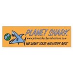 Shark's Bumper Sticker/gold