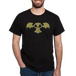 Skull Bat Retro Black T-Shirt