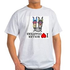 I (Heart) Roller Coasters Ash Grey T-Shirt