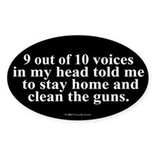 9 out of 10 Voices Oval Decal