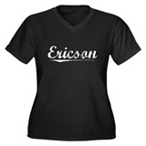 Aged, Ericson Women's Plus Size V-Neck Dark T-Shir
