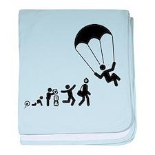 Parachuting baby blanket