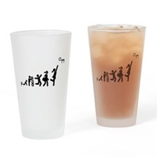 Netball Drinking Glass