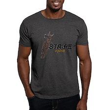 C StripeAPose Black T-Shirt