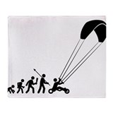 Kite Buggying Throw Blanket