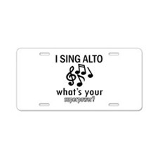 Cool Alto Designs Aluminum License Plate